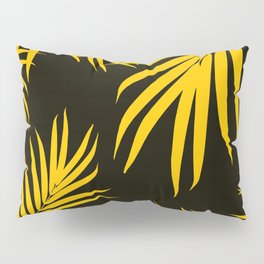 Palm Leaves Pattern Yellow Vibes #1 #tropical #decor #art #society6 Pillow Sham
