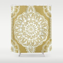 White on Cardboard Shower Curtain