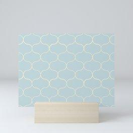 Ogee pattern light blue Mini Art Print