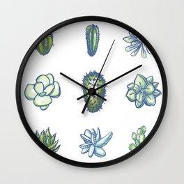 One Dozen Succulents Wall Clock