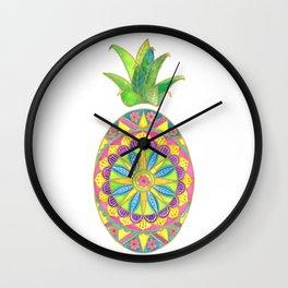 Pineapple Mandala Wall Clock