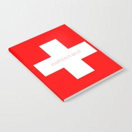 Swiss Cross - Swiss Flag Notebook