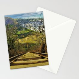 KOKO HEAD CRATER STAIRWAY Stationery Cards