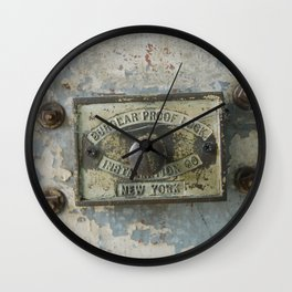 DUMBO Loft Door Lock-Brooklyn, New York Wall Clock