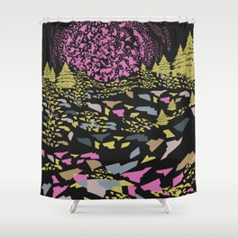 Trippy hills colorful Shower Curtain
