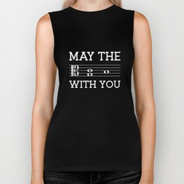 May the 4th be with you (dark colors/alto clef) Biker Tank