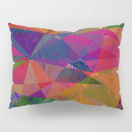 Geometry and flower Pillow Sham