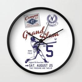 Baseball Grand Slam Vintage Design. Wall Clock