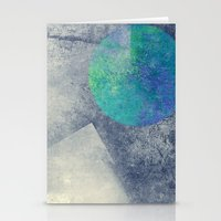 the moon Stationery Cards featuring moon by Claudia Drossert