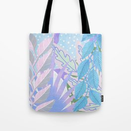 Modern Jungle Plants - Blue, Purple Tote Bag