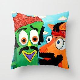 Chumby & Chokey Throw Pillow