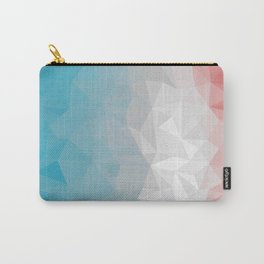 Red and Blue Polygon Background Carry-All Pouch
