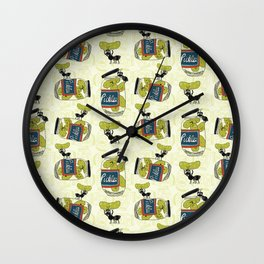 The Pickle Thief Pattern Wall Clock