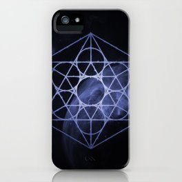 sacred geometry 01 // blue iPhone Case