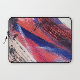 Los Angeles: A vibrant, abstract piece in reds and blues by Alyssa Hamilton Art Laptop Sleeve