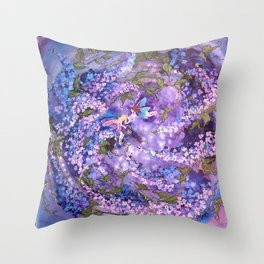 Whispers in the Lilacs Throw Pillow