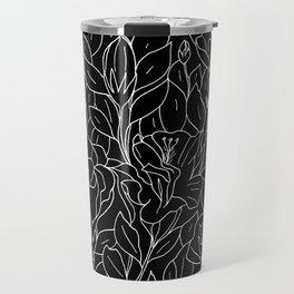 Floral Sketch - W&B Travel Mug