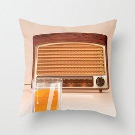 Radio & Whiskey Throw Pillow
