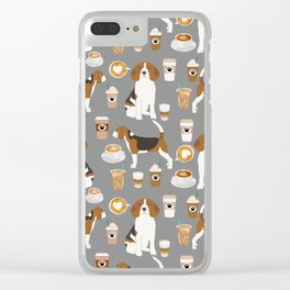 Beagle coffee dog breed gifts pupuccino dog lover beagles pure breed Clear iPhone Case