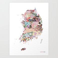 South Korea Art Print