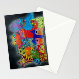 modern cats Stationery Cards