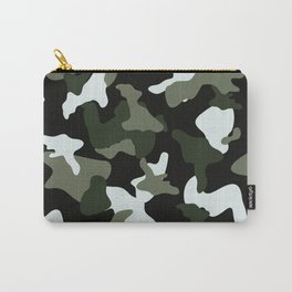Green White camo camouflage army pattern Carry-All Pouch