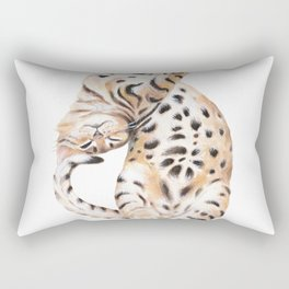 Cute Bengal Kitten Transparent Rectangular Pillow