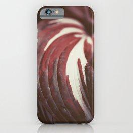 Elegant Soft Pink Leaf, Botanical Abstract Wall Art 01 iPhone Case