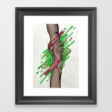 Wood united Framed Art Print