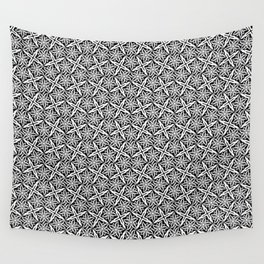 Jasmine and Stars - Color: Black&White Wall Tapestry