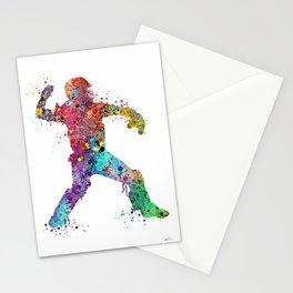Baseball Softball Catcher 3 Art Sports Poster Stationery Cards