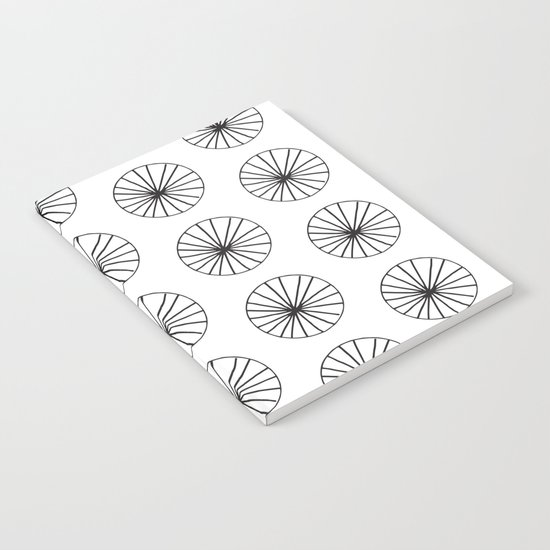 Omge - circle black and white minimal abstract lines drawing design minimal art Notebook