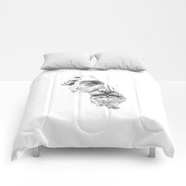 MARCUS AURELIUS ANTONINUS AUGUSTUS / black / white Comforters