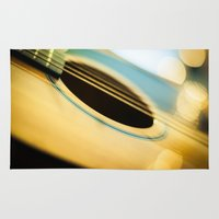 guitar Area & Throw Rugs featuring Guitar by BD Photo