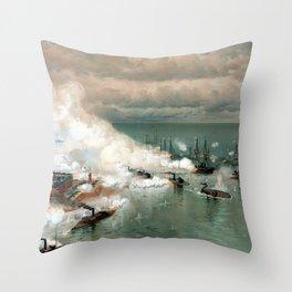 Battle Of Mobile Bay -- Civil War Throw Pillow