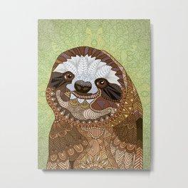 Smiling Sloth Metal Print