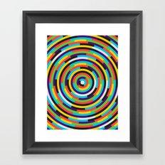con·cen·tric Framed Art Print