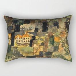 """Paul Klee """"Ausblick aus e wald (Outlook of a forest)"""" Rectangular Pillow"""