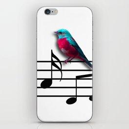 Bird on Music Sheet iPhone Skin