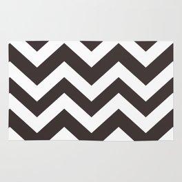 Black coffee - grey color - Zigzag Chevron Pattern Rug