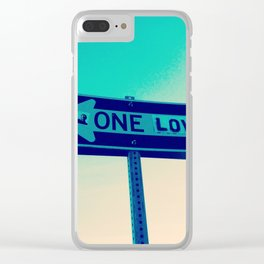 One Way, One Love Clear iPhone Case