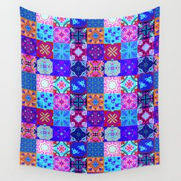 Bohemian Jungle Quilt Tiles 2 Wall Tapestry