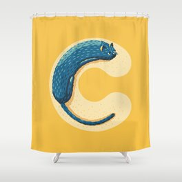 C for Cat Shower Curtain
