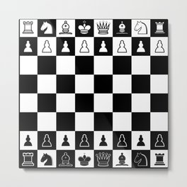 Chess Board Metal Print