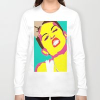 miley cyrus Long Sleeve T-shirts featuring Miley Cyrus by Becky Rosen