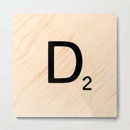 Scrabble Letter D - Large Scrabble Tiles Metal Print