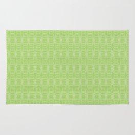 hopscotch-hex bright green Rug