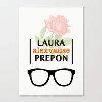alex vause Canvas Prints featuring Laura Prepon | Alex Vause by Sandi Panda