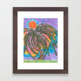 The Shade of the Day Framed Art Print