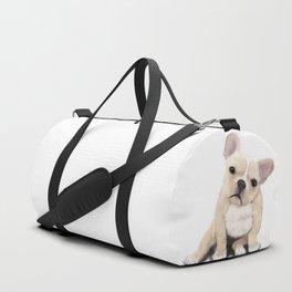 Cream Frenchie Duffle Bag